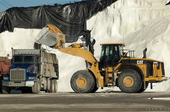 Road salt pile. ©David Fasules