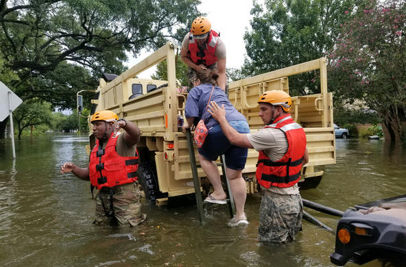 hurricane harvey cc. national guard
