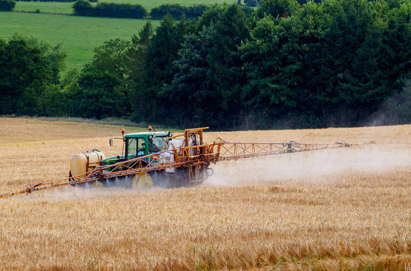 crop spraying cc richard corfield