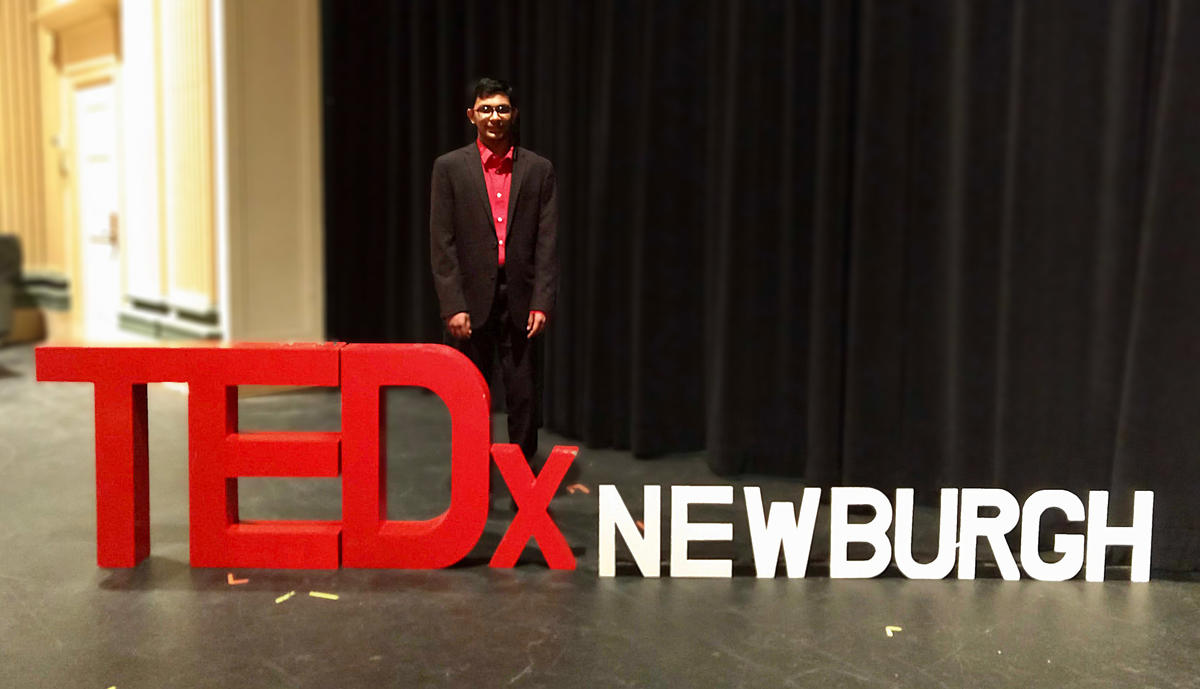 Sanjay after he presented his TedTalk on the Importance of Compassion